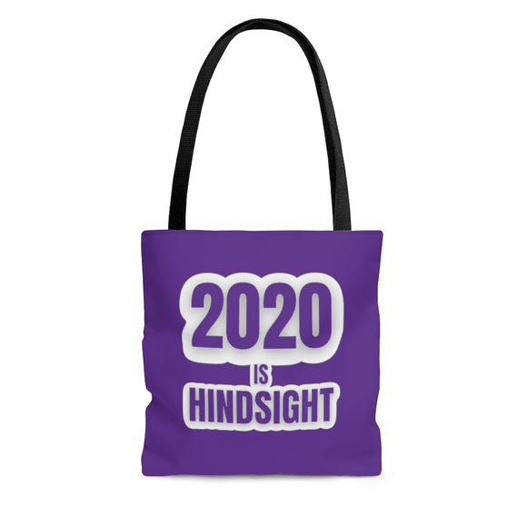 2020 is Hindsight Tote Bag - Purple