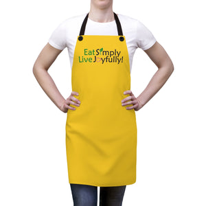 Eat Simply, Live Joyfully Apron - yellow