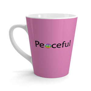 """Peaceful"" Latte mug - Pink"