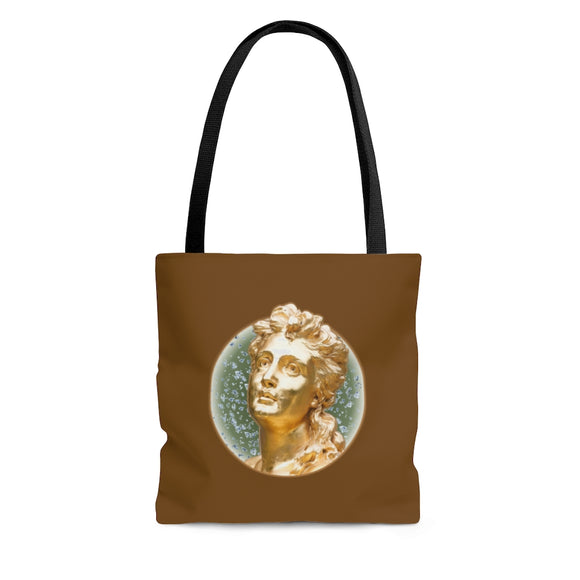 Golden Matron Tote Bag - chocolate brown