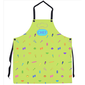 Apron Kitchen Gadget Lime Green