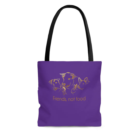 Friends not Food Tote Bag - Purple