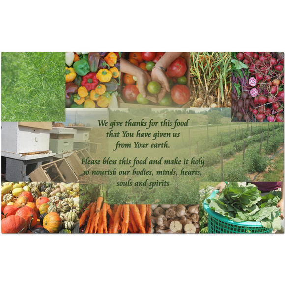 Food Gratitude Prayer Placemats - GIFT  (Shipping included)