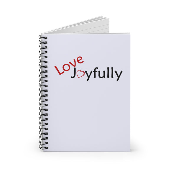 Love Joyfully Spiral Notebook - Ruled Line