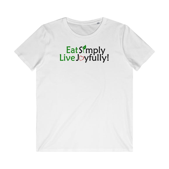 Eat Simply Live Joyfully Men's Organic Tee
