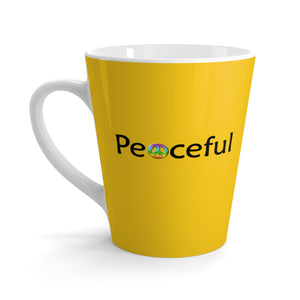 """Peaceful"" Latte mug - Yellow"