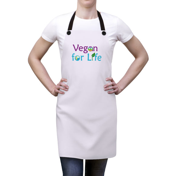 Vegan for Life Apron - Light Purple