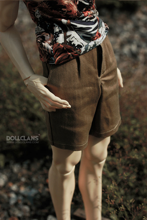 S - Casual Short Pants (brown)