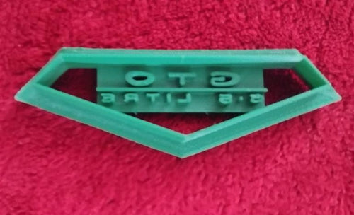 3D Printed Cookie Cutter Inspired by Pontiac GTO 6.5L Emblem