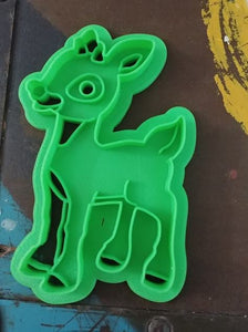 3D Printed Cookie Cutter Inspired by Rudolph the Red Nosed Reindeer