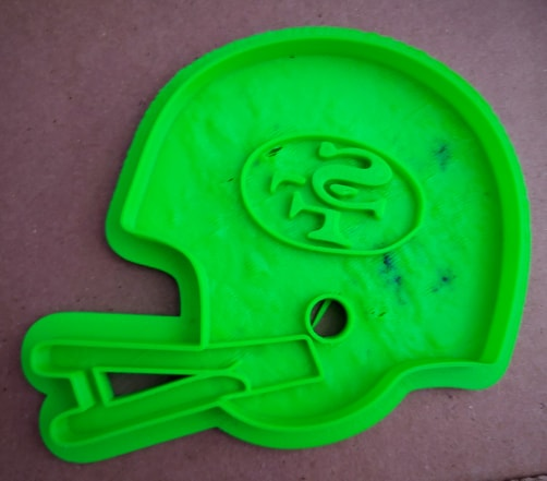 3D Printed Cookie Cutter Inspired by the San Francisco 49ers