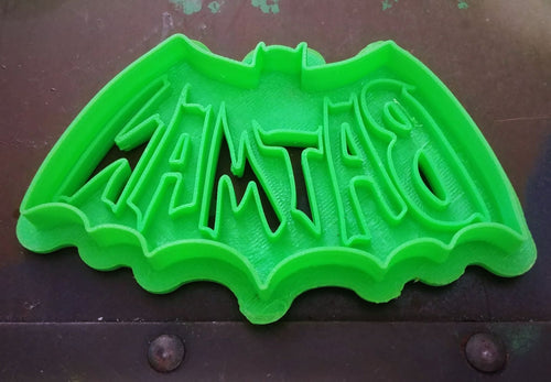3D Printed Cookie Cutter Inspired by 1960s Adam West Batman Logo