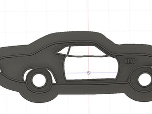 3D Printed Cookie Cutter Inspired by a 1971 Plymouth Barracuda