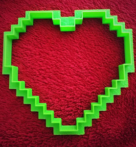 3D Printed 8 Bit Heart Cookie Cutter