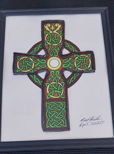 Handmade Celtic Cross VHS film artwork