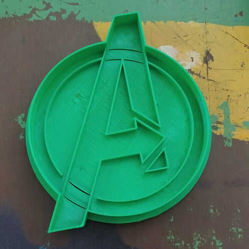 3D Printed Cookie Cutter Inspired by Marvel Avengers Logo