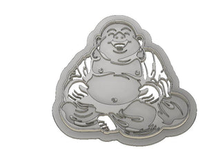 3D Printed Laughing Buddha Cookie Cutter