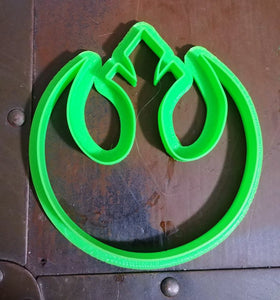 3D Printed Cookie Cutter Inspired by Star Wars Rebel Symbol
