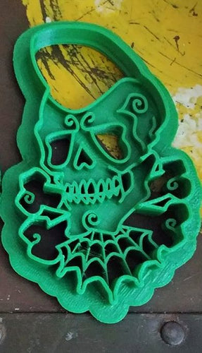 3D Printed Rockabilly Skull Cookie Cutter