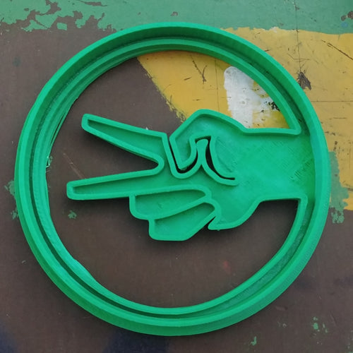 3D Printed Cookie Cutter Inspired by Big Bang Theory RPSLS Scissors Sign
