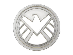 3D Printed Cookie Cutter Inspired by Marvels Shield Logo
