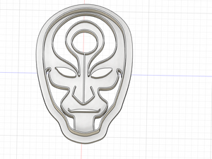 Copy of Copy of Copy of 3D Printed Avatar the Last Air Bender Amon Inspired Cookie Cutter