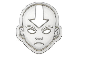 3D Printed Avatar the Last Air Bender Ang Inspired Cookie Cutter