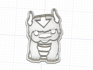 Copy of 3D Printed Avatar the Last Air Bender Appa Inspired Cookie Cutter