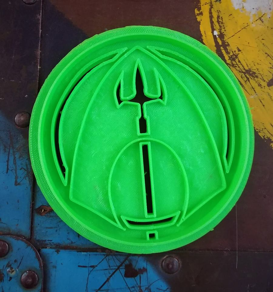 3D Printed Cookie Cutter Inspired by DC Comics Aquaman