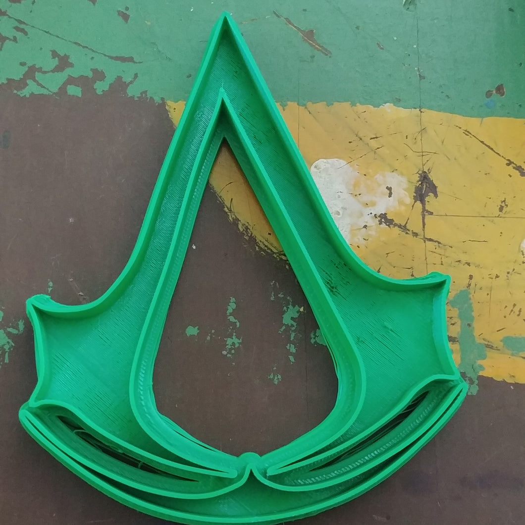 3D Printed Cookie Cutter Inspired by Assassins Creed Logo