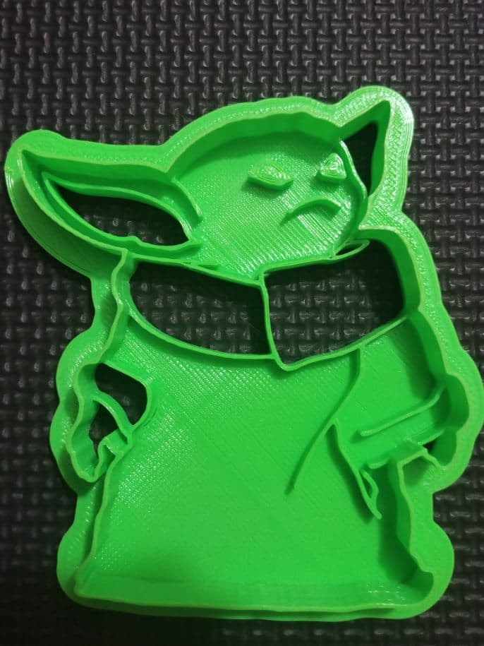 3D Printed Cookie Cutter Inspired by Star Wars Baby Yoda Standing