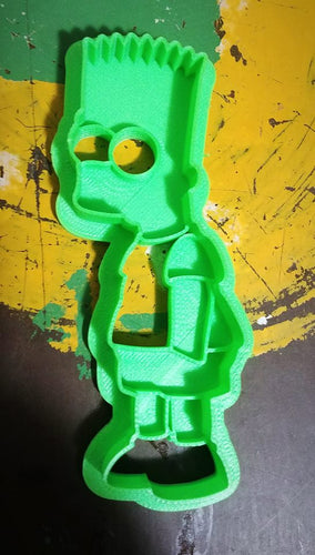 3D Printed Cookie Cutter Inspired by Bart Simpson