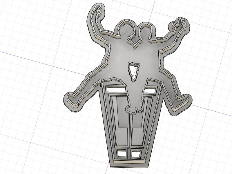 3D Printed Cookie Cutter Inspired by Bill and Teds Excellent Adventure