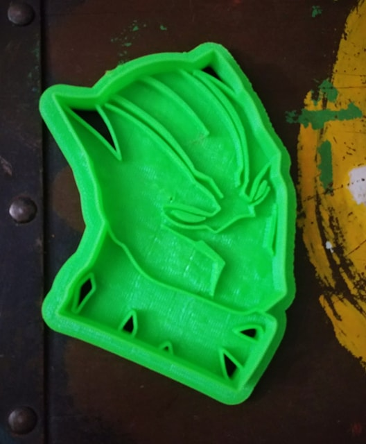 3D Printed Cookie Cutter Inspired by Marvels Black Panther