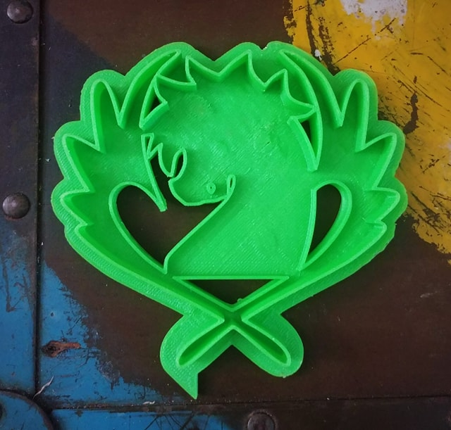 3D Printed Cookie Cutter Inspired by Fairy Tail Blue Pegasus Guild Crest