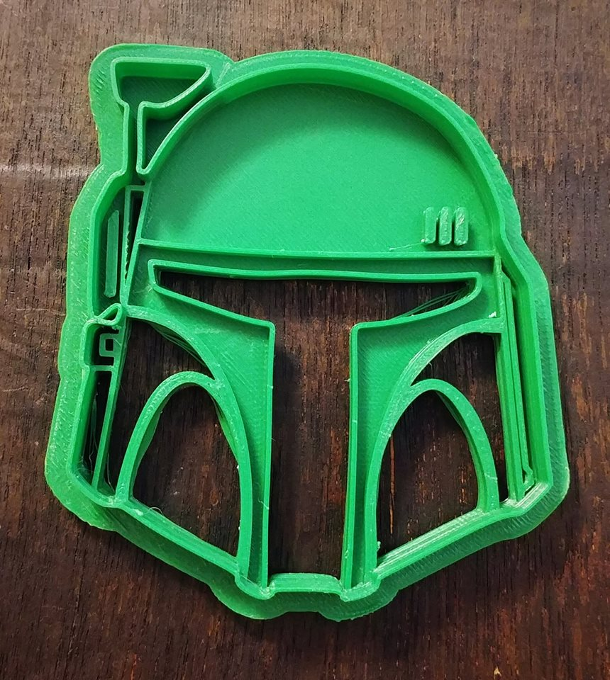 3D Printed Cookie Cutter Inspired by Star Wars Boba Fett