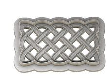 Load image into Gallery viewer, 3D Printed Rectangular Celtic Knot work Cookie Cutter