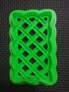 3D Printed Rectangular Celtic Knot work Cookie Cutter
