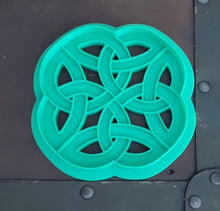 Load image into Gallery viewer, 3D Printed Round Celtic Knotwork Cookie Cutter
