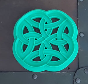 3D Printed Round Celtic Knotwork Cookie Cutter