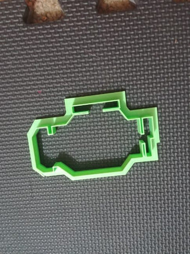 3D Printed Chech Engine Symbol Cookie Cutter