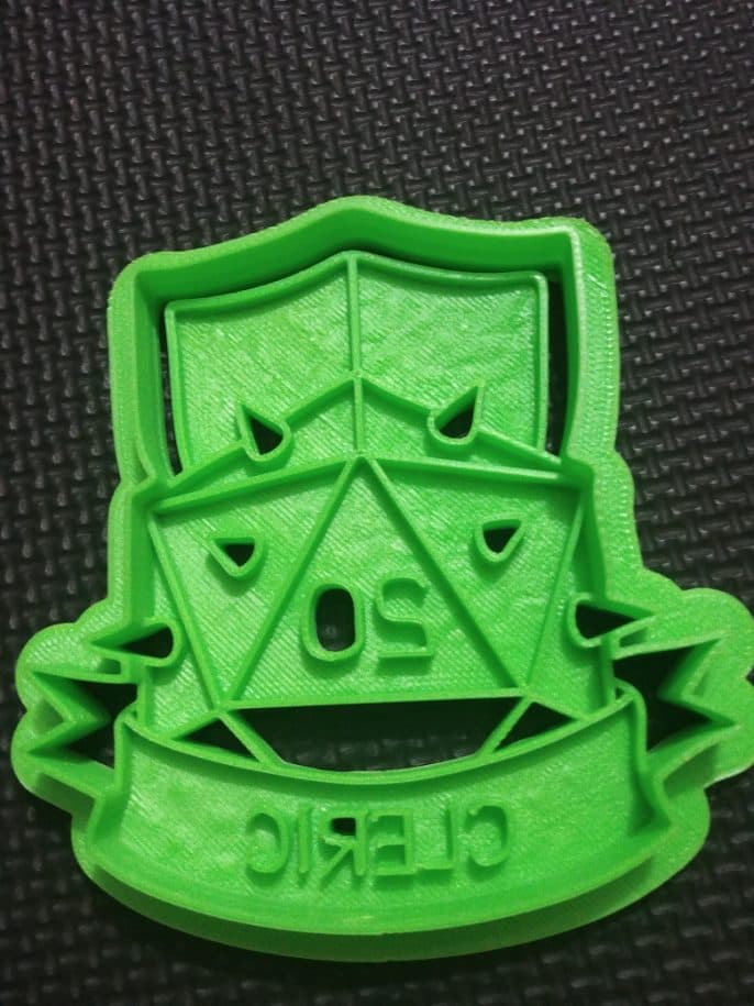 3D Printed DnD Cleric Cookie Cutter