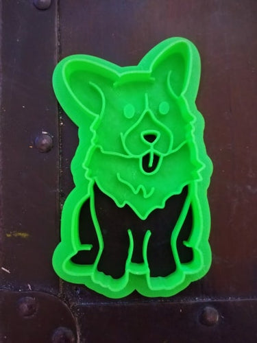 3D Printed Adorable Corgi Sitting Cookie Cutter