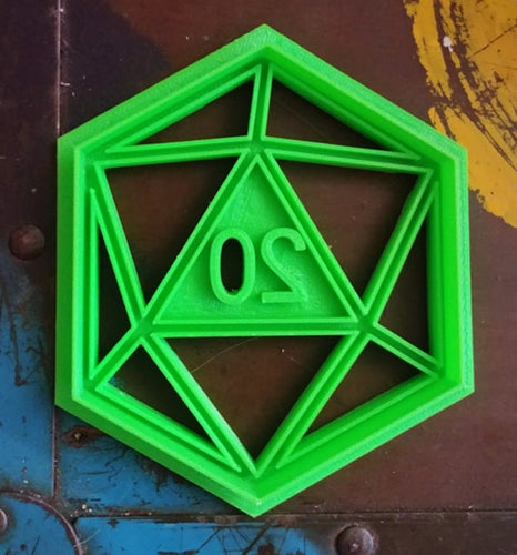 3D Printed D20 Critical Success Cookie Cutter