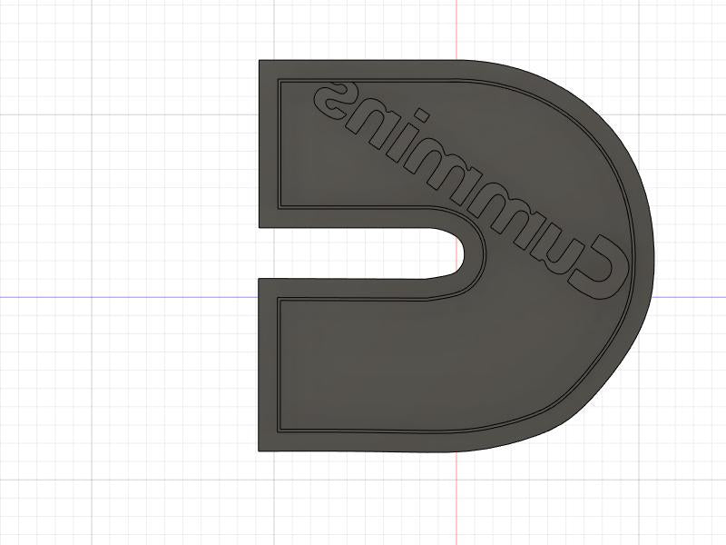 3D Printed Cookie Cutter Inspired by Cummins Logo