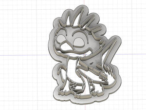 Printed Cookie Cutter Inspired by Dragons Rescue Riders Cutter