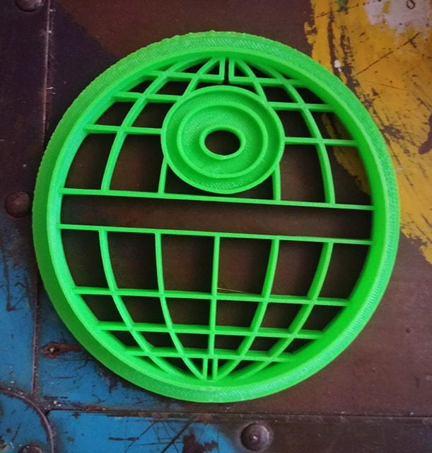 3D Printed Cookie Cutter Inspired by Star Wars Death Star