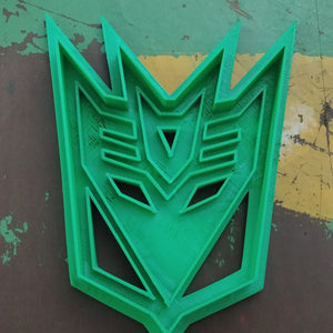 3D Printed Cookie Cutter Inspired by Transformers Decepticons Crest
