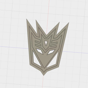 3D Model to Print Your Own Transformers Decepticons Logo Cookie Cutter DIGITAL FILE ONLY