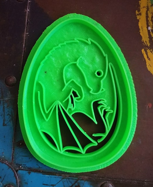 3D Printed Dragon Egg Cookie Cutter